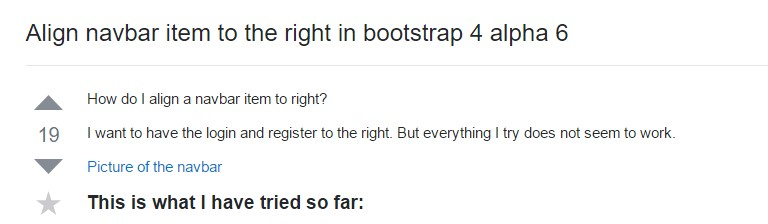 Regulate navbar item to the right in Bootstrap 4 alpha 6