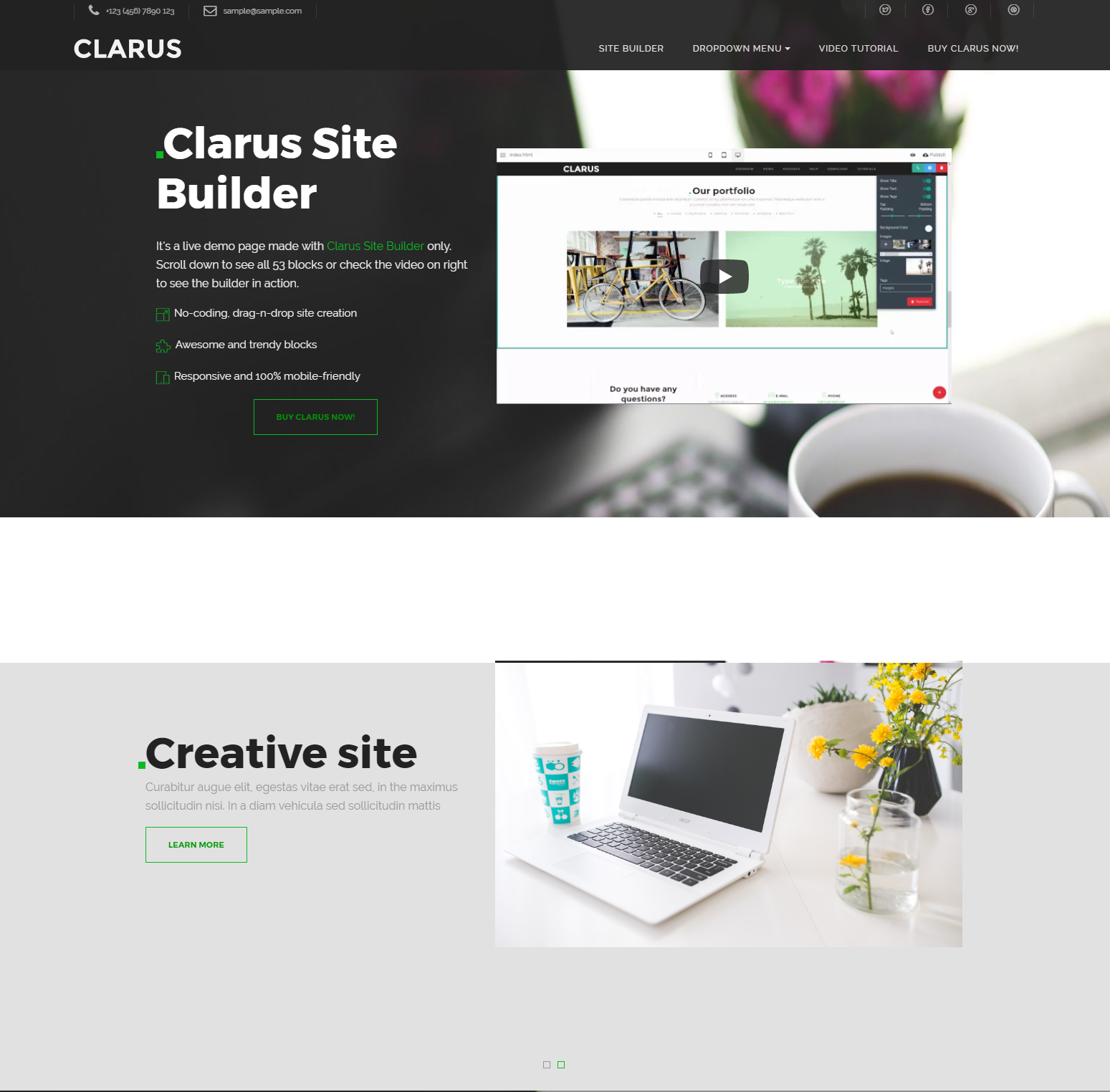 HTML Bootstrap Clarus Themes