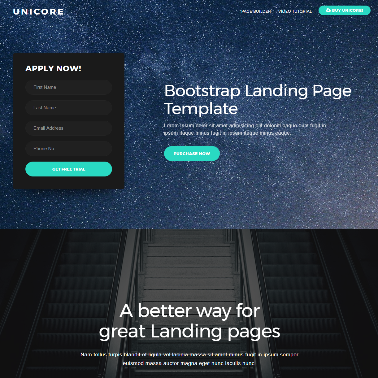 Free Download Bootstrap One Page Themes